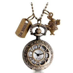 Vintage Alice in Wonderland Necklace/Pocket Watch
